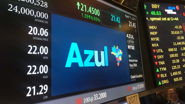 AZUL NYSE - give credit to NYSE